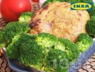Варена шунка, глазирана с горчичен сос и запечена на фурна